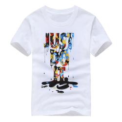 T-shirt garçon blanc manche courte - JUST DO IT