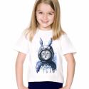 Tshirt enfant pour fille blanc - Chat