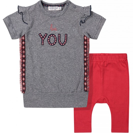 2 pce babysuit print be you - Dirkje