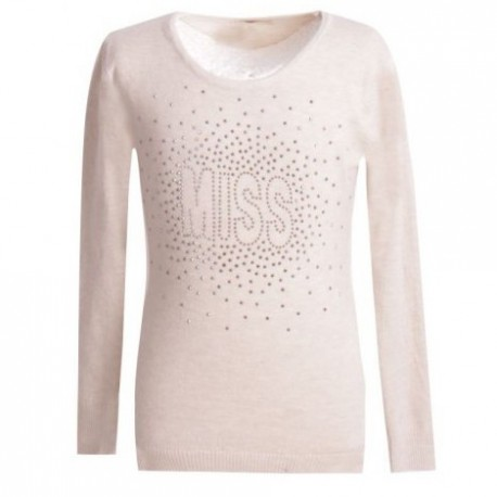 Pull pour fille ultra doux - à strass - MISS