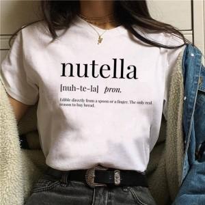 LADY - T-shirt pour femmes manches courtes, 100% coton imprimé - Nutella definition