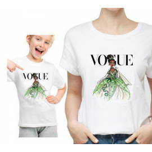 T-shirt filles manches courtes, 100% coton imprimé - Vogue Tiana