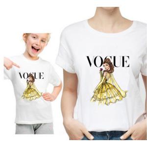 T-shirt filles manches courtes, 100% coton imprimé - Vogue Belle