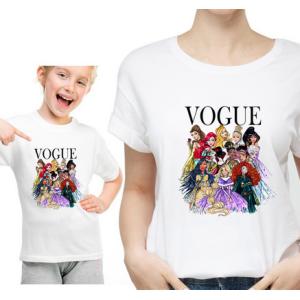 T-shirt filles manches courtes, 100% coton imprimé - Vogue Princesses top model