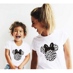 LADY - T-shirt pour femmes manches courtes, 100% coton imprimé - mick jaguar gris
