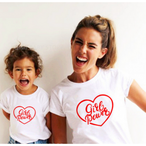 LADY - T-shirt pour femmes manches courtes, 100% coton imprimé - Girl power