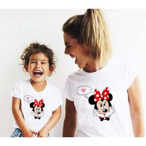 LADY - T-shirt pour femmes manches courtes, 100% coton imprimé - Minnie love