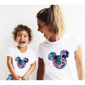 LADY - T-shirt pour femmes manches courtes, 100% coton imprimé - Mick tropical