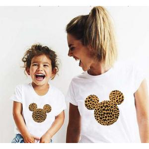 T-shirt filles manches courtes, 100% coton imprimé - mick jungle