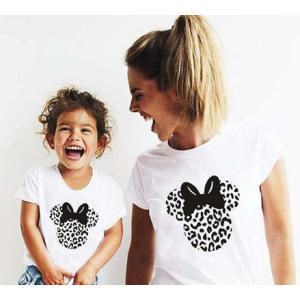 T-shirt filles manches courtes, 100% coton imprimé - mick jaguar gris