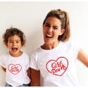 T-shirt filles manches courtes, 100% coton imprimé - Girl Power