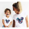 T-shirt filles manches courtes, 100% coton imprimé - Mick tropical