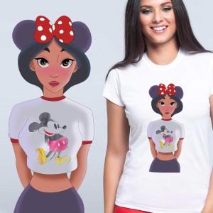 LADY - T-shirt pour femmes manches courtes, 100% coton imprimé - Jasmine