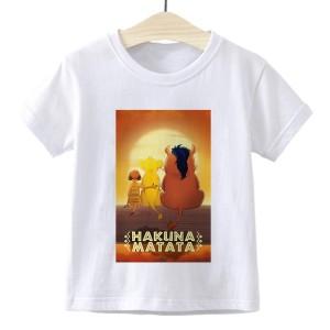 T-shirt filles manches courtes, 100% coton imprimé - hakuna matata 3