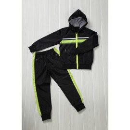 Patcho - Ensemble De Survetement unisex A capuche - noir/jaune