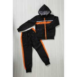 Patcho - Ensemble De Survetement unisex A capuche - noir/orange