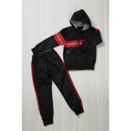 Penna - Ensemble De Survetement unisex A capuche - Noir/rouge