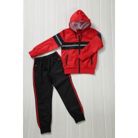 Penna - Ensemble De Survetement unisex A capuche - rouge/noir