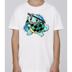 T-shirt enfant coupe droite manches courtes, 100% coton imprimé - carapuce warior
