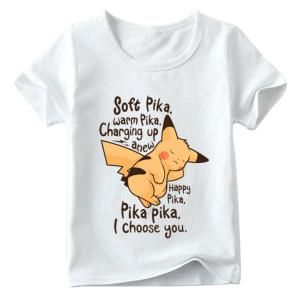 T-shirt filles, 100% coton imprimé - pkmon Soft pika