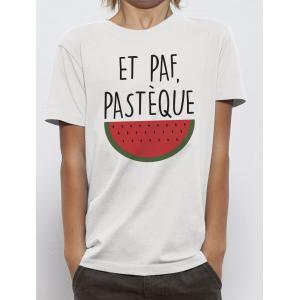 T-shirt enfant coupe droite manches courtes, 100% coton imprimé ET PAF PASTEQUE