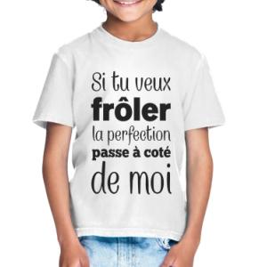 T-shirt enfant coupe droite manches courtes, 100% coton imprimé froler la perfection..
