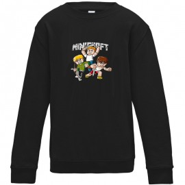 Sweat-shirt 80% coton imprimé Minecraft