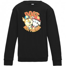Sweat-shirt 80% coton imprimé super dogs
