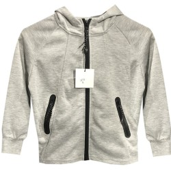 Sweat a capuche multi zip injecté poche kangourou