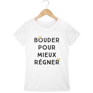 T-shirt blanc fille  - Bouder pour mieux regner
