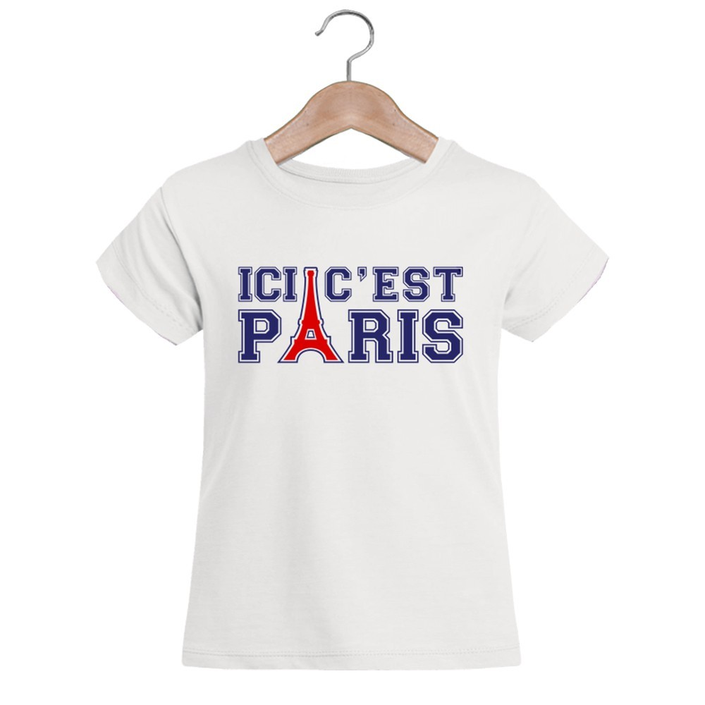 grossiste t shirt blanc fille ici c est paris. Black Bedroom Furniture Sets. Home Design Ideas