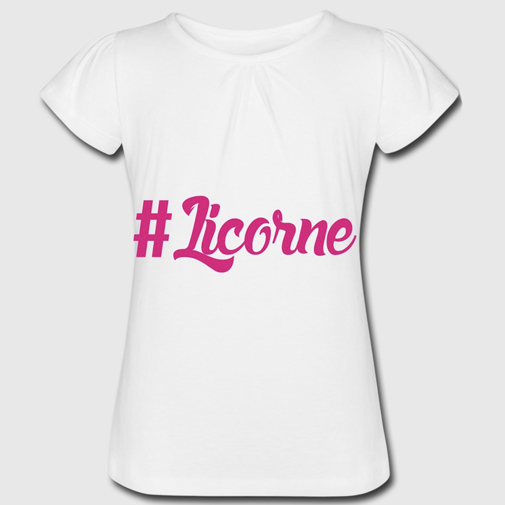 t shirt blanc fille licorne. Black Bedroom Furniture Sets. Home Design Ideas