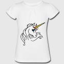 T-shirt blanc fille - licorne