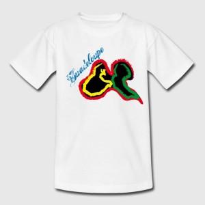T-shirt blanc enfant - Guadeloupe