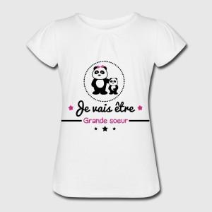 T-shirt blanc fille - Je vais etre grande soeur