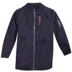 Bombers long doublé polaire - zip - Marine