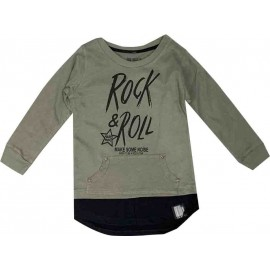 Victory - Sweat capuche 6-9 ans imprimé Rock and roll
