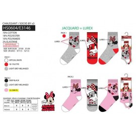 PACK 3 CHAUSSETTES - MINNIE - 72 PAIRES
