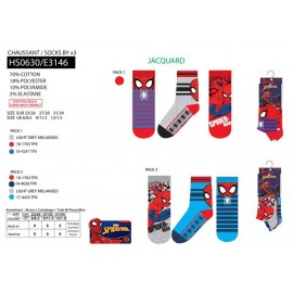 PACK 3 CHAUSSETTES - SPIDERMAN - 72 PAIRES
