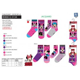 PACK 3 CHAUSSETTES - minnie - 31/34 - 36 PAIRES