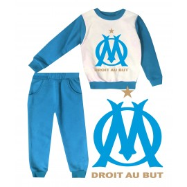 Jogging enfant sweat + pantalon - 1-4 ans imprimé Droit au but - bleu