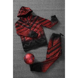 HARRY - Ensemble De Survetement unisex A capuche - noir/rouge