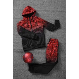 PAYO - Ensemble De Survetement unisex A capuche - Noir/rouge