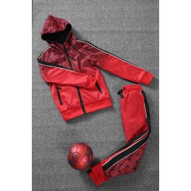 LEONI - Ensemble De Survetement unisex A capuche - rouge/noir