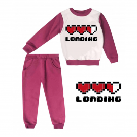 Jogging enfant sweat + pantalon 1-4 ans Floqué LOADING