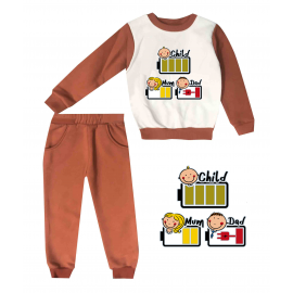 Jogging enfant sweat + pantalon 1-4 ans Floqué charge