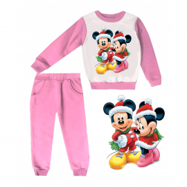 Jogging enfant sweat + pantalon 1-4 ans imprimé noel