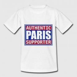 T-shirt blanc enfant - Authentic Paris supporter