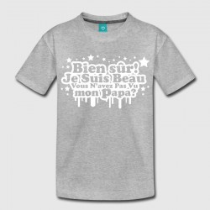 T-shirt gris enfant - Biensur je suis beau .....