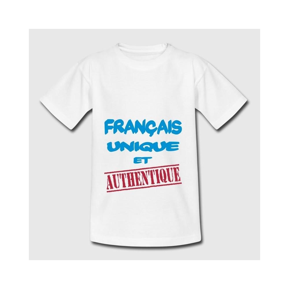 T-shirt blanc enfant - Français unique et authentique